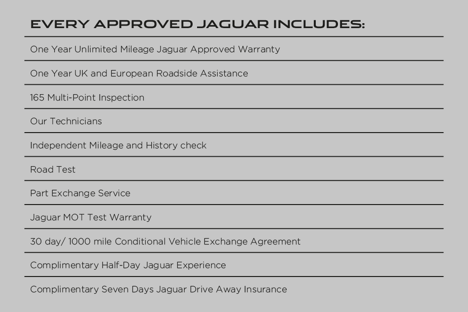 Jaguar Includes